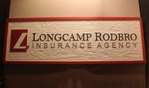 Custom Made Office Signs, Business Signs, Insurance Company Signs By Lazy River Studio