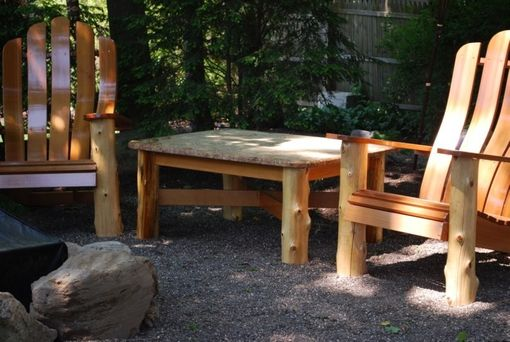 Custom Made Custom Adirondack Style Table