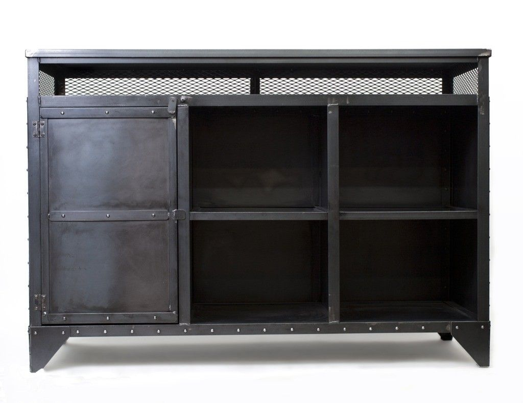 industrial media furniture rustic custom made industrial media cabinet hostess stand kitchen island by
