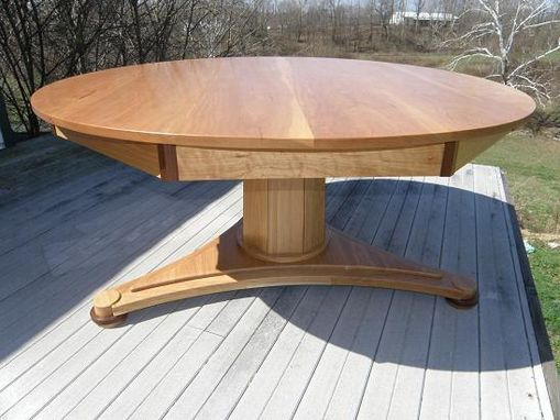 Custom Made Cherry Pedestal Dining Table