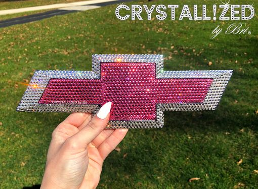 Custom Made Chevy Chevrolet Bow Tie Crystallized Car Emblem Bling Made With Swarovski Crystals Bedazzled