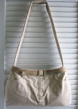 Custom Made Upcycled Purse With Magnetic Snap Made From A Khaki Skort