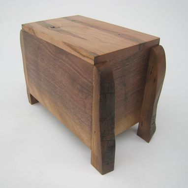 Custom Made Modern Rustic Cremation Urn - Quietly And Pensively Made - Solid Hardwoods -