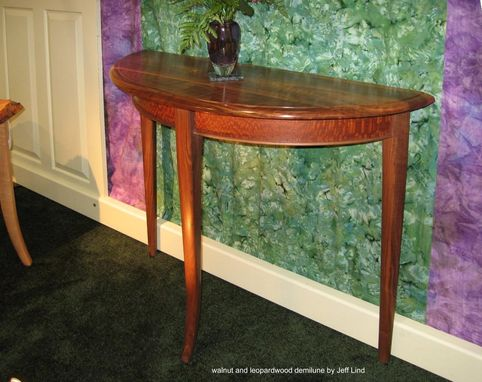 Custom Made Demi-Lune Hall Table