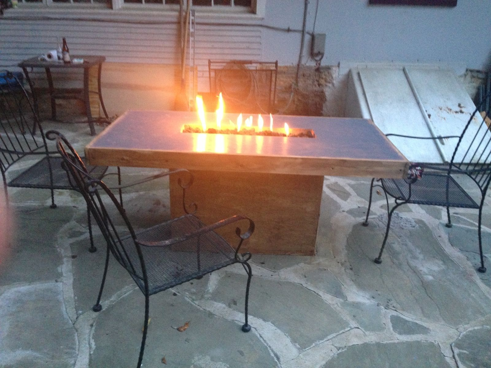 Handmade Concrete Fire Table By Murrcrete Designs