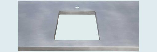 Custom Made Zinc Countertop With Framed Opening