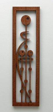 "Custom Made Striped Mahogany Fretwork ""Mother And Children"""