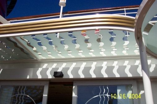 "Custom Made ""Disney Wonder"" Aluminum And Etched Glass Canopy"