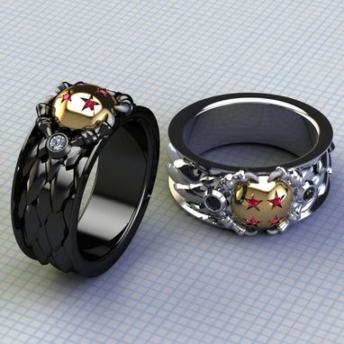 Custom Made Dragon And His Ball Ring- Gents
