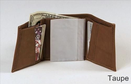 Custom Made Trifold Wallet Leather