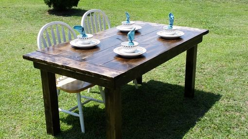 Custom Made Farmhouse Kitchen / Dining Room Table