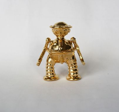 Custom Made Golden Tik Tok Sculpture