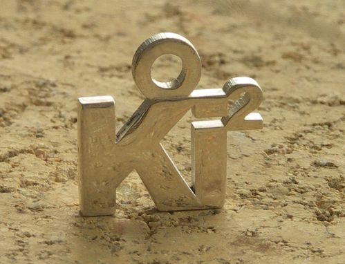 Custom Made Ki Squared Sterling Silver Pendant