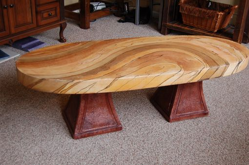 Custom Made Acid Stain Concrete Coffee Table