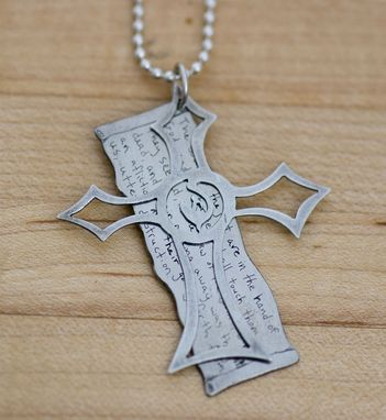 Custom Made Cross And Scroll Necklace