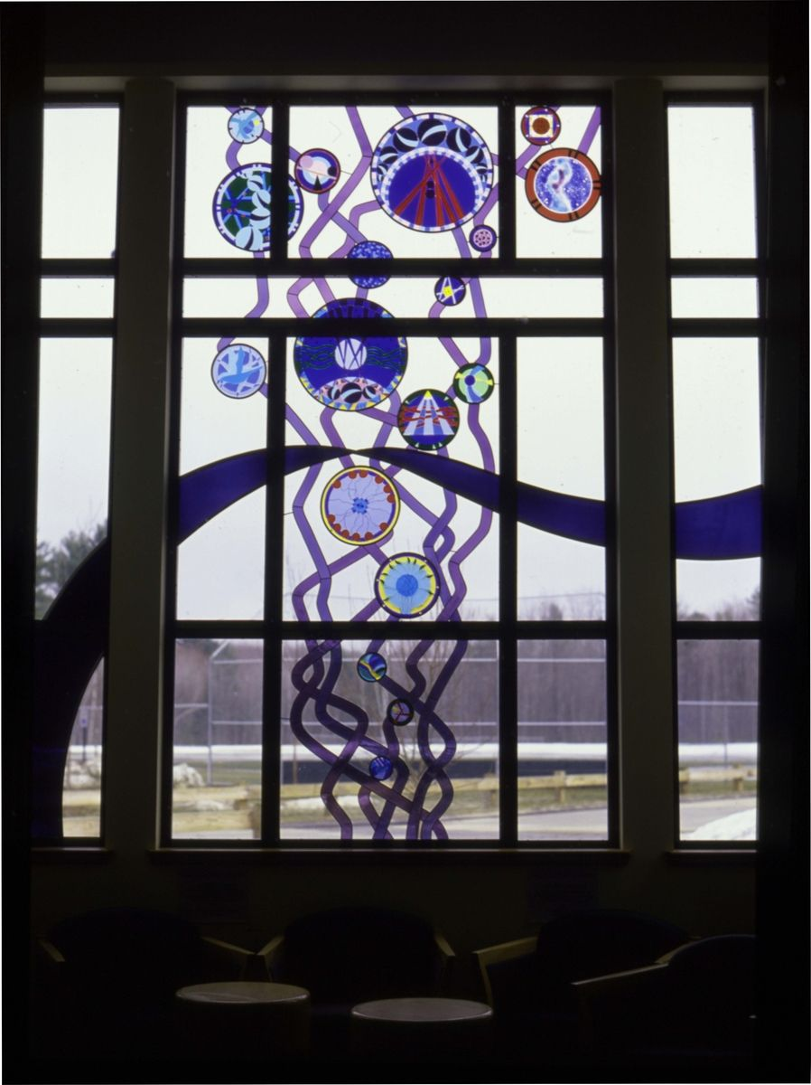 Custom Made Stained Glass Window Bubbles Rising By Janet