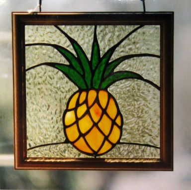 Custom Made Stained Glass Pineapple Window