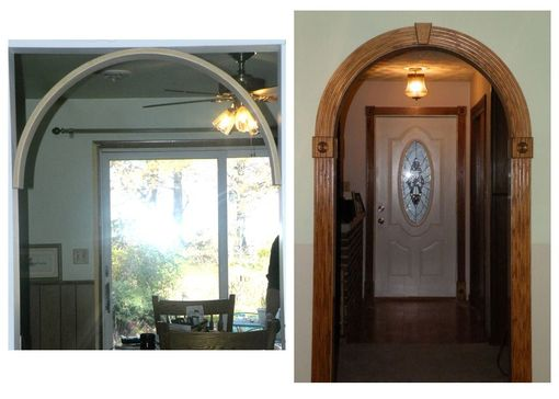 Custom Made Before And After Photos Of A 36 Inch Archway In Red Oak
