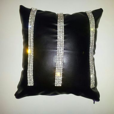 Custom Made Glamourous Black Diamond Throw Pillows