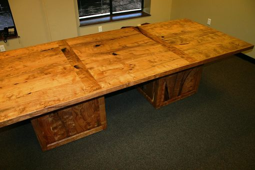 Custom Made The Crockett 4 X 10 Burl Mesquite Conference Table