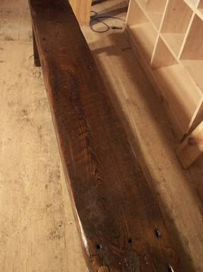 Custom Made Thick Plank Farm Bench From Antique Reclaimed Barn Wood