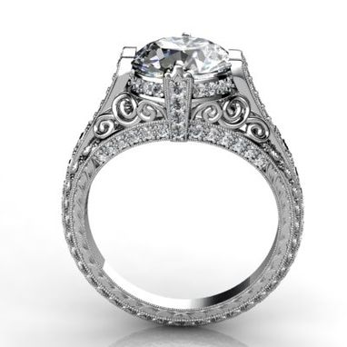 Custom Made Art Deco Style 2ct - 2.5ct Semi- Mount Engagement Setting