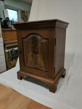 Custom Made Walnut And Spanish Cedar Humidor