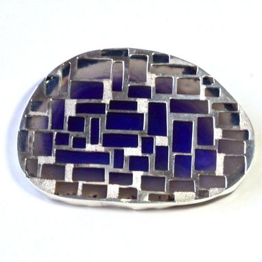 Custom Made Stain-Glass Window Style Brooch