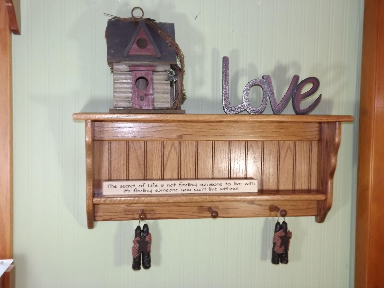 Hand Made Solid Oak Coat Racks Wall Shelves By Appletree