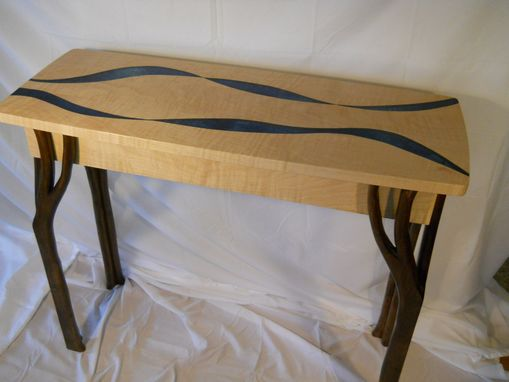 Custom Made Maple Hall Table With Beautiful Flowing Patterns