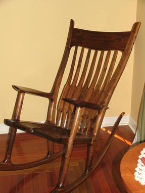 Custom Made Maloof Inspired Rocking Chair