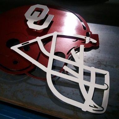 Custom Made Ou Football Helmet (Steel)