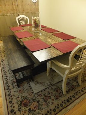 Custom Made Dinning Table And Benches