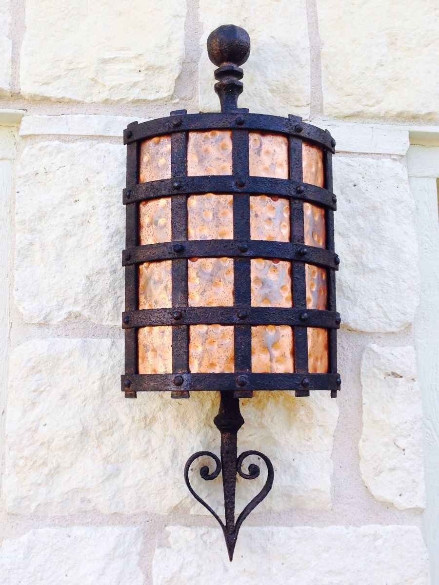sconce shades indoor hammered products light wall outdoor of copper