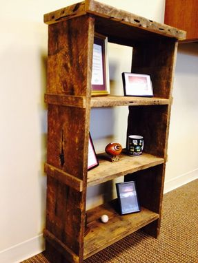 Custom Made Reclaimed Barn Wood Bookshelf