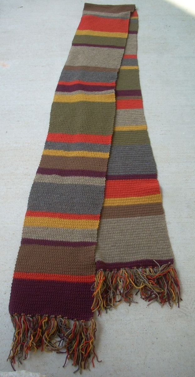 Hand Crafted Tom Baker Style Scarf By Rocnraes Simply Handmade