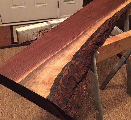 Custom Made Beautiful Live Edge Hardwood Slab Coat Racks