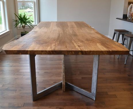 Custom Made Bookmatched Live Edge Dining Table