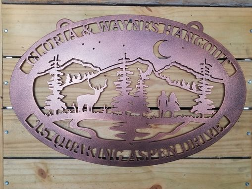 Custom Made Custom Lake Night Wildlife Sign