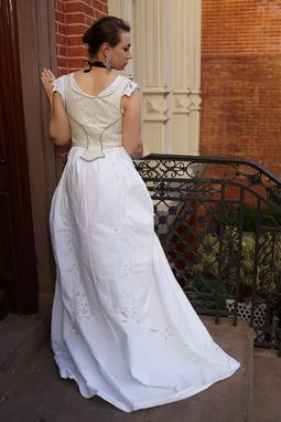 Custom Made Hunt Of The Unicorn Victorian Corseted Wedding Gown