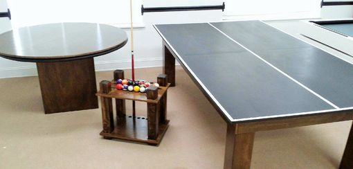 Custom Made 8ft Conversion Pool Table With Ping Pong Top !