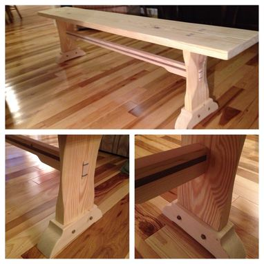 Custom Made Farm Table Bench