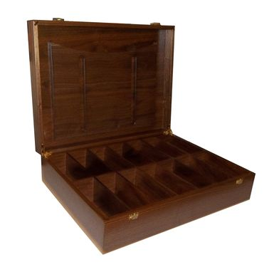 Custom Made Table Top Walnut Game Box