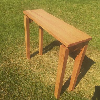 Custom Made Solid Wood Entry Table