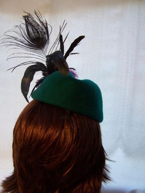 Custom Made Jade Green Cocktail Hat