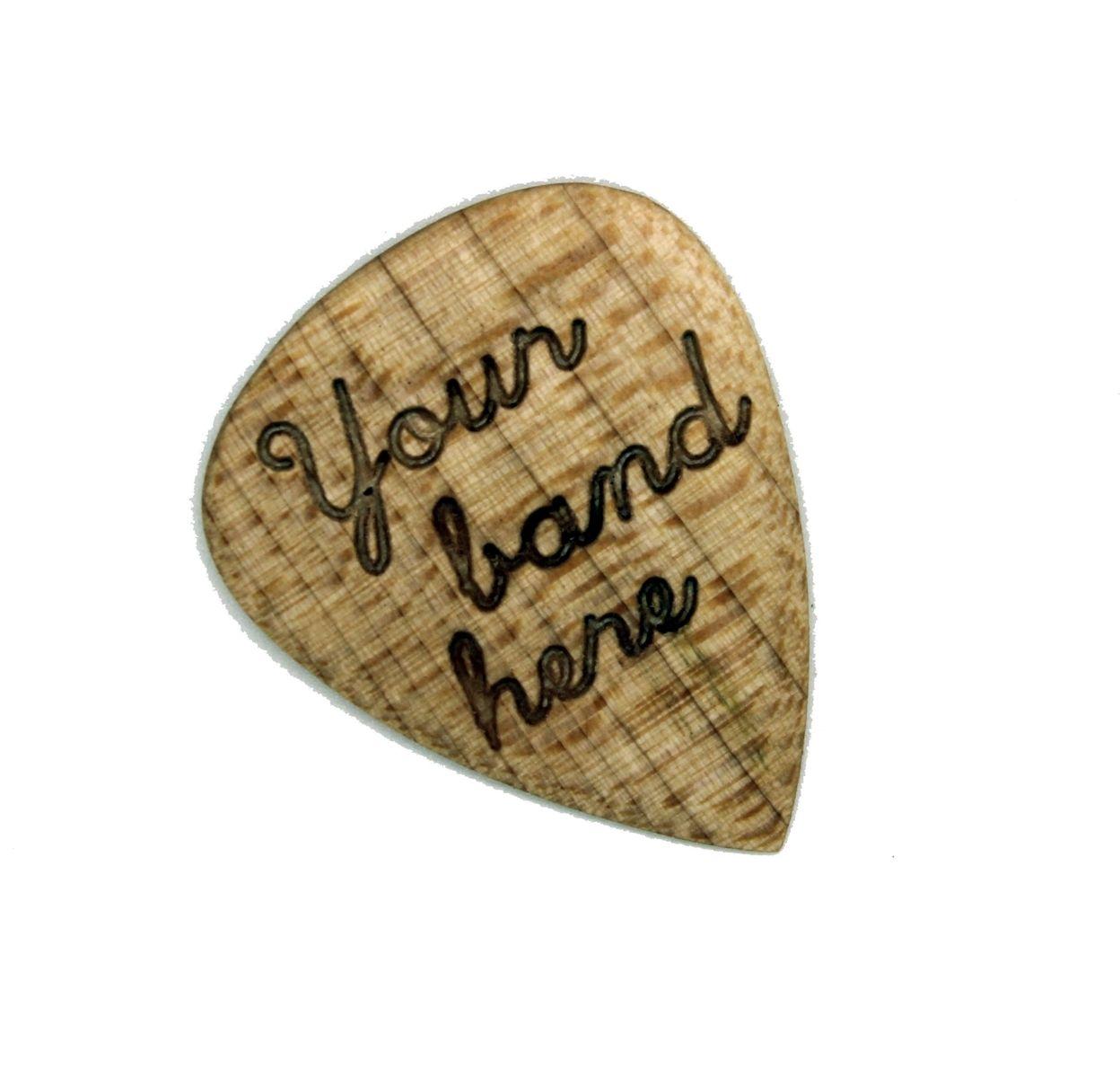 Hand Made Engraved Wood Guitar Picks Custom Musician Gift Wooden