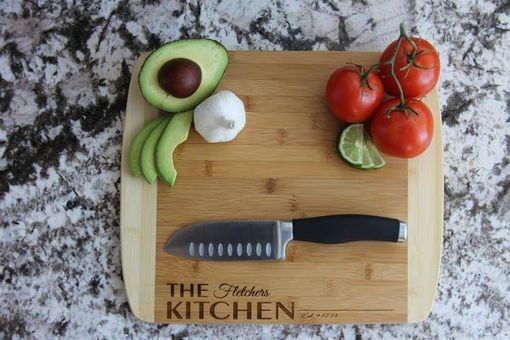 Custom Made Personalized Cutting Board 11x14 (Rounded Edge) Bamboo