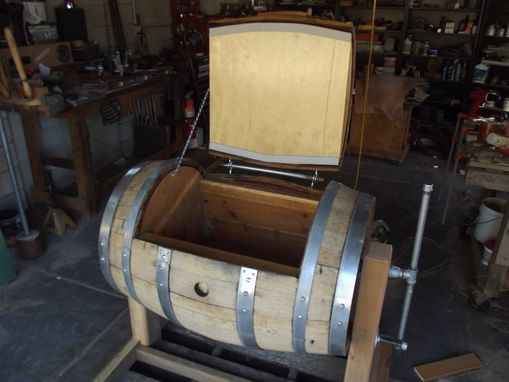 Hand Crafted Wine Barrel Ice Chest By Mark Norman S Custom