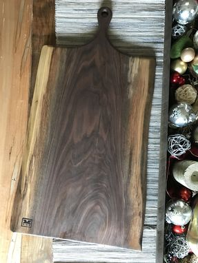 Custom Made The Asher - Xxl Walnut Cutting/Serving Board With Stout Handle