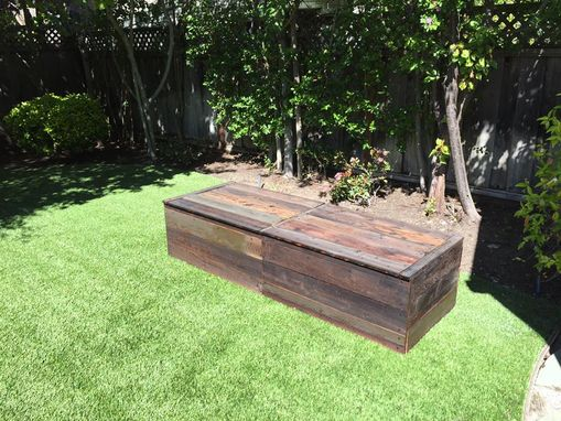 Custom Made Reclaimed Wood Bench